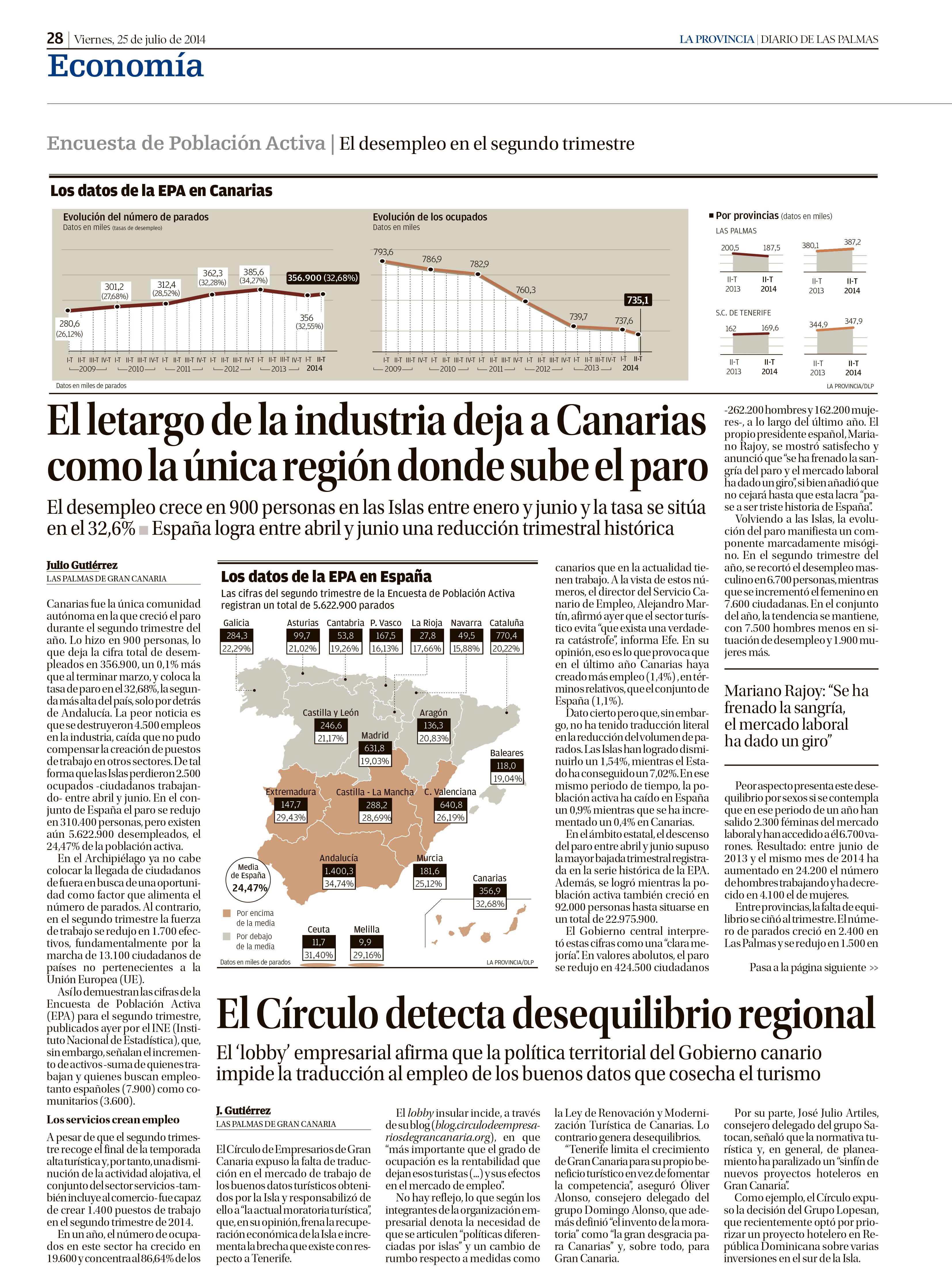 El Círculo de Empresarios de Gran Canaria, en La Provincia