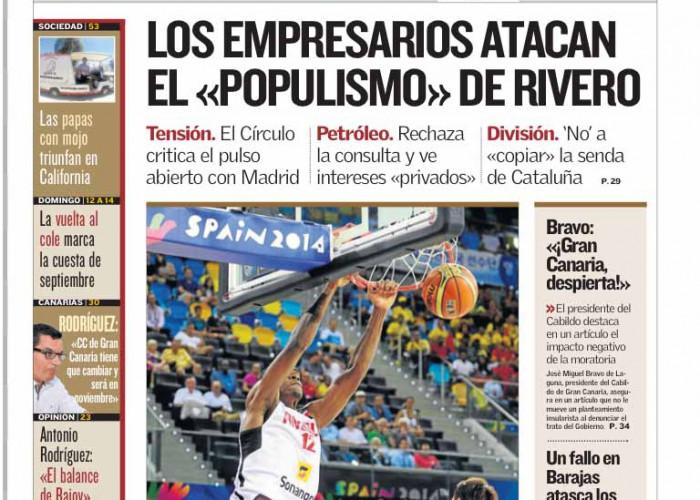 El Manifiesto del Círculo de Empresarios de Gran Canaria copa los medios