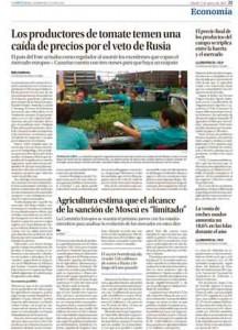 Página de La Provincia, Círculo de Empresarios de Gran Canaria