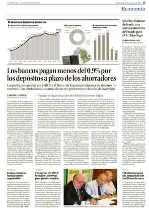 El Círculo de Empresarios de Gran Canaria, en el diario La Provincia