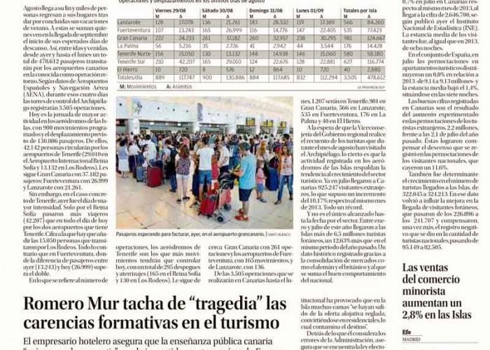 La entrevista a Mario Romero Mur, en La Provincia