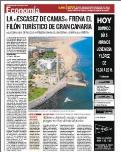 Página de la edición dominical de Canarias 7