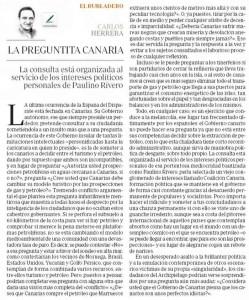 Articulo de Carlos Herrera en ABC, Circulo de Empresarios de Gran Canaria