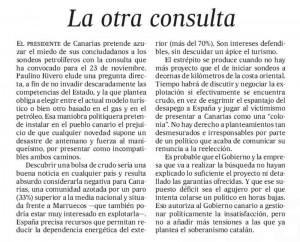 Editorial de El País sobre las prospecciones, Círculo de Empresarios de Gran Canaria