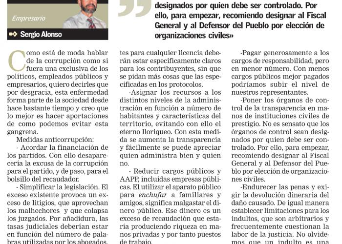 Medidas contra la corrupción, por Sergio Alonso