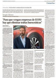 Pagina de La Provincia con Sergio Alonso