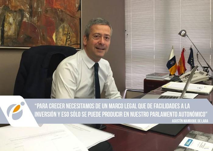 """Manrique de Lara: """"El futuro de Canarias depende de Canarias"""""""